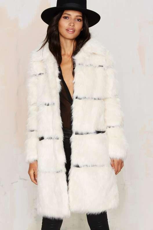 Nightwalker Moss is Boss Faux Fur Coat