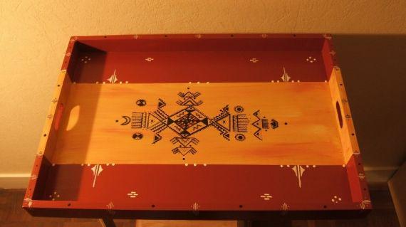 d co design plateau kabyle ocre rouge et jaune d coration plateau kabyle projets essayer. Black Bedroom Furniture Sets. Home Design Ideas