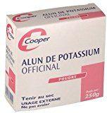 COOPER Alun de potassium - Forte transpiration - 250 g