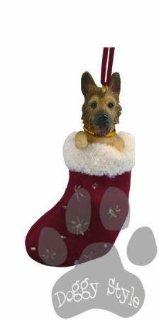 Santa's Little Pals German Shepherd Christmas Ornament http://doggystylegifts.com/products/santa-s-little-pals-german-shepherd-christmas-ornament