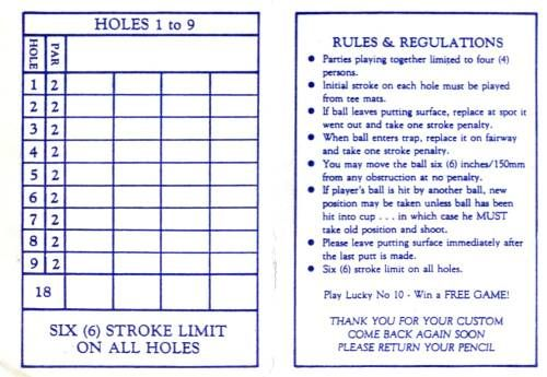 miniature golf score card - Bing Images | miniature golf ...