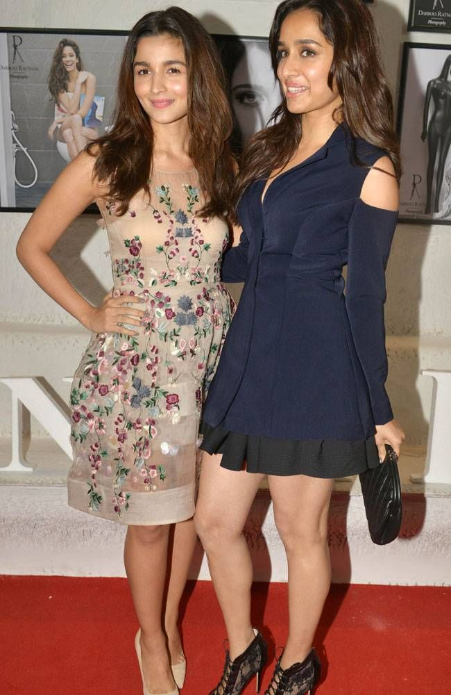 Alia Bhatt and Shraddha Kapoor at the #DabbooRatnaniCalendar launch. #Bollywood #Fashion #Style #Beauty #Cute #Hot