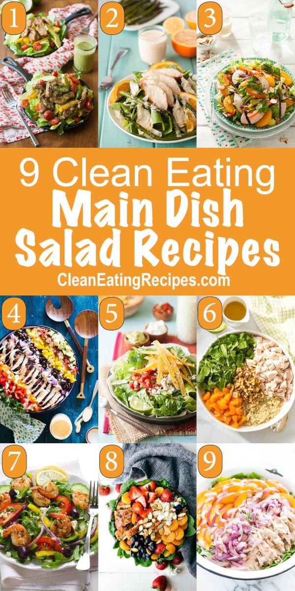 Here are 25 of the best ever clean eating main dish salad recipes. I have so many different salad recipes all with some kind of meat to make a full meal.
