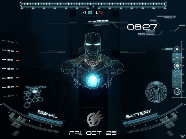 OS7] Animated Jarvis Theme | Blackberry Theme  Wallpapers