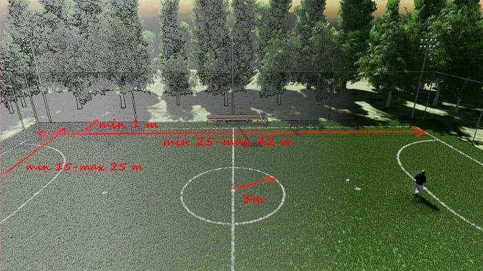 Diseno De Instalaciones Deportivas Cancha De Futbol Sala Y Cancha De Baloncesto Biblus Cancha De Futbol Sala Cancha De Futbol Cancha De Futsal