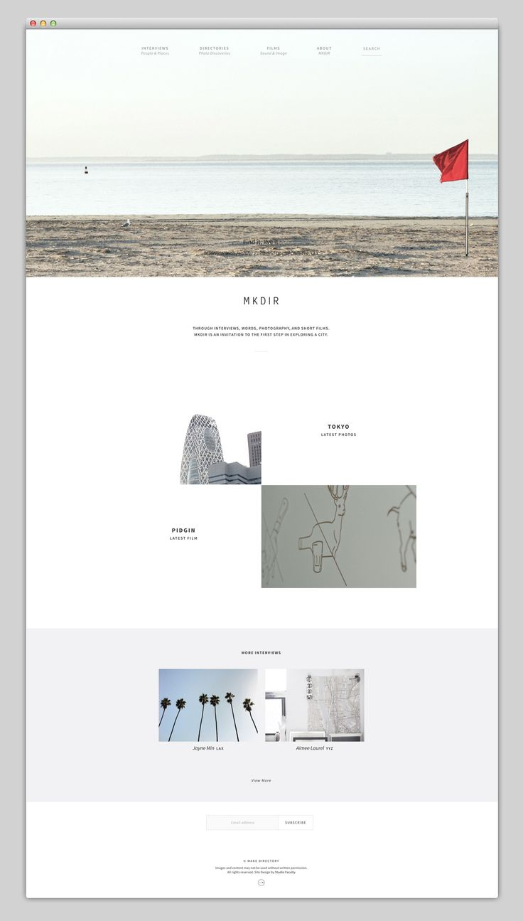 The Web Aesthetic — MKDIR