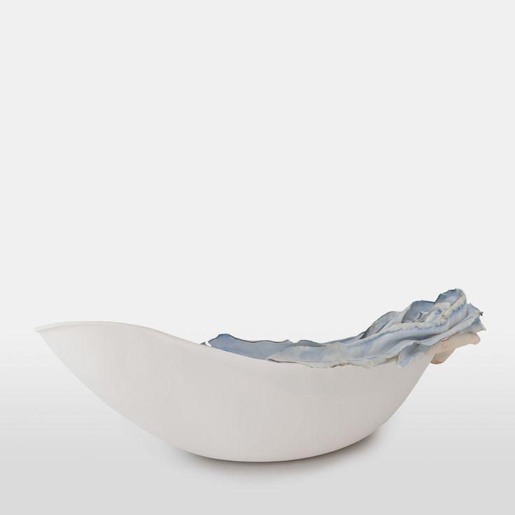 le foglie dentro - porcelain, paperclay porcelain, metal salts