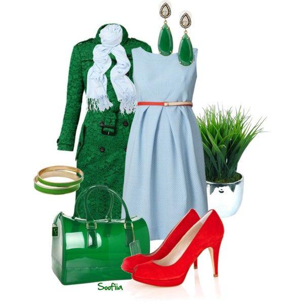 """little blue dress"" by soofiia on Polyvore"