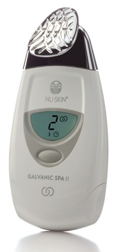 Introducing the ageLOC® Edition Nu Skin Galvanic Spa System™ II:  A programmable instrument with patented self-adjusting galvanic currents and interchangeable conductors for the face, scalp and body.