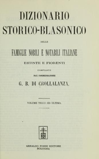 Dizionario storico-blasonico delle famiglie nob...