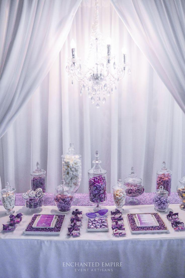 Purple + Chandelier Wedding Candy Bar « Enchanted Empire. www.enchantedemporium.com.au