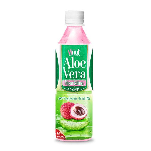 500ml Original Bottle  Aloe Vera Drink Sparkling with Lychee Juice