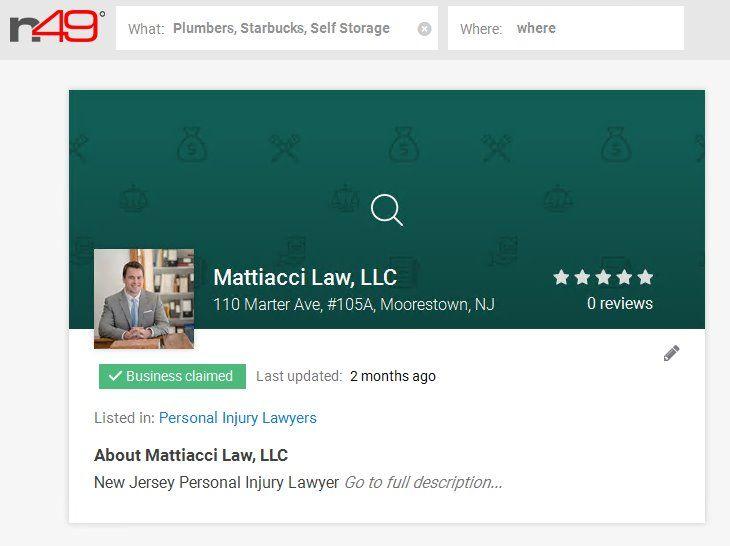 Moorestown Personal Injury Lawyer John Mattiacci will fight to get you the compensation you deserve. https://www.n49.com/biz/1476423/mattiacci-law-llc-nj-moorestown-110-marter-avenue/#