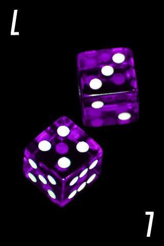 Lucky-7 purple Dice
