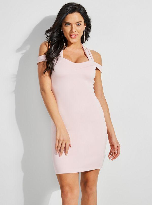 Valorie Crisscross Bodycon Dress Guess Com Bodycon Dress Dresses Knitted Bodycon Dress