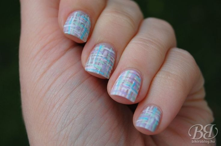 Nail Club - Tweed nails ///