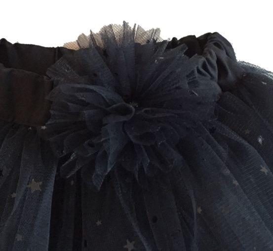 Flor de tutu negro marca Tikelu. www.tikelu.cl