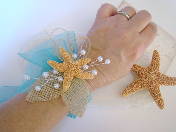 Ramillete de estrellas de mar ramillete de la muñeca