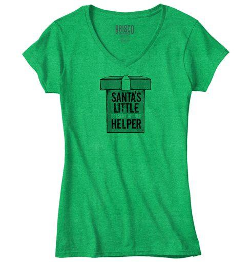 Santa's Little Helper Junior V-Neck T-Shirt