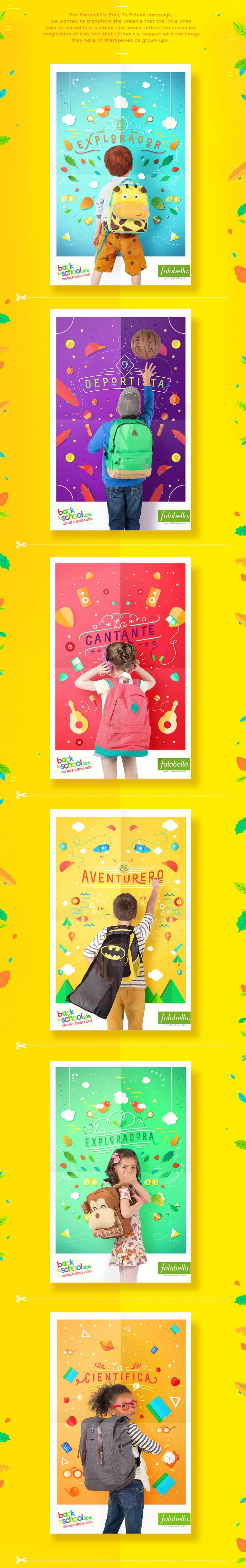Back To School 2016 / Falabella on Behance