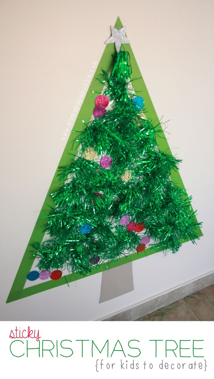 Sticky Christmas Tree for kids to decorate   Mama Papa Bubba