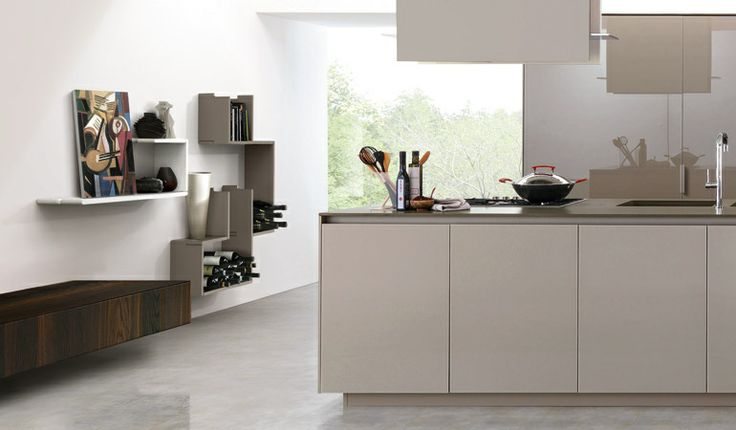 In the kitchen everything has to be in order and perfectly reachable. The ZedLine shelves, because of their tiny depth, are ideal storage above the working surface. In addition, they can be easily cleaned: since they are removable, water-repellent and made of rigid polyurethane