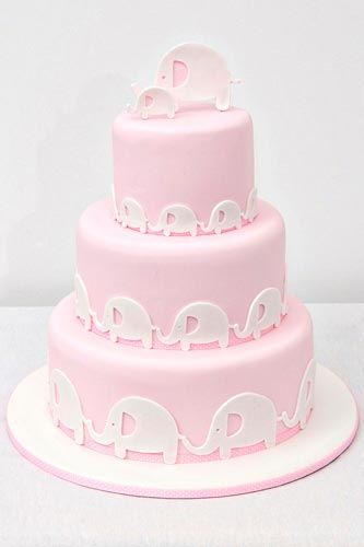 Baby pink elephant cake (also available in blue, green, grey and yellow)