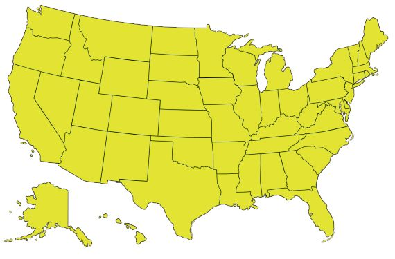 State Quiz! As you type the states in a blank box, the state you type in lights up on the map so you can track your progress! You only get 4 minutes!