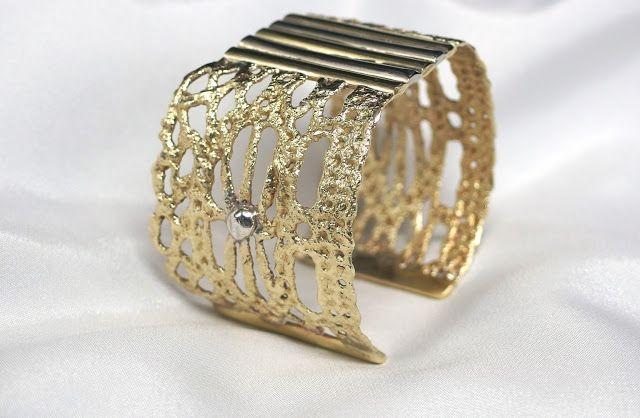 brass lace bracelet!