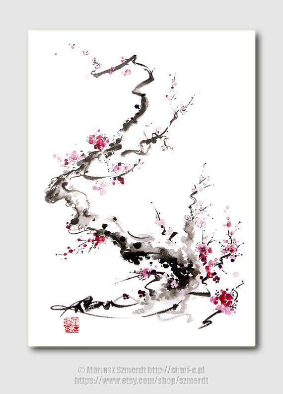 Cherry Blossom hot pink birthday gift women flower by SamuraiArt, $35.00                                                                                                                                                      More