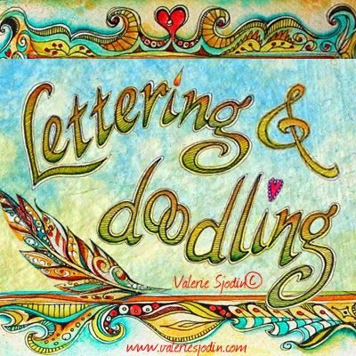 Lettering & Doodling Online Art Journaling Workshop. Doodles shown here are demonstrated in the class. www.valeriesjodin.com & visual blessings
