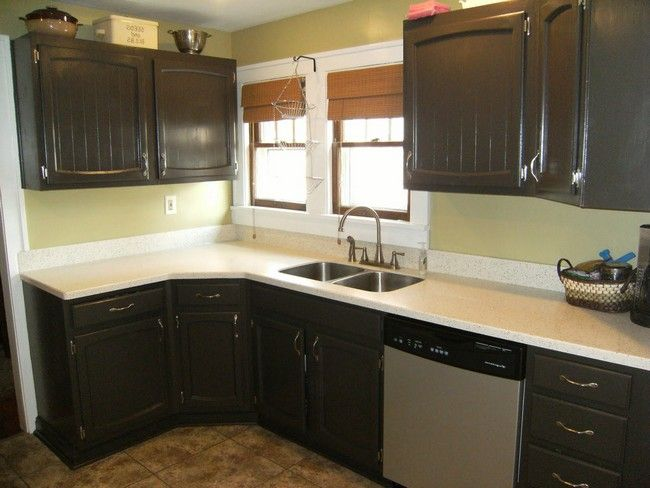 Painting Melamine Kitchen Cabinets Before And After Kitchen Cabinetry Design Rustic Kitchen