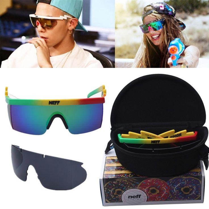 11.3$  Watch here - With Packing 2017 New Sunglasses Women Brand Designer Neff Mirror Sunglasses Men 2 Piece Lense Gafas De Sol De Las Mujeres   #buyininternet