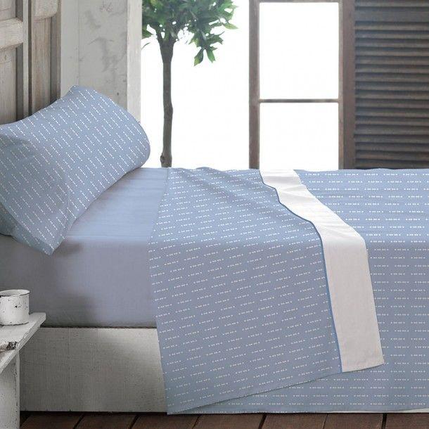 Juego Sábana Franela MATT de la firma La Marioneta. Sencillo y confortable, se trata del complemento perfecto para vestir tu cama durante las noches más frías del año. La franela aporta calidez y bienestar.