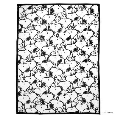 PEANUTS Flanell Decke Snoopy allover - Peanuts