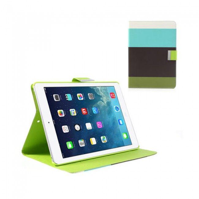 Freestyle (Turkoosi/Musta/Vihreä) iPad Air Nahkakotelo - http://lux-case.fi/ipad-air-suojakuoret.html
