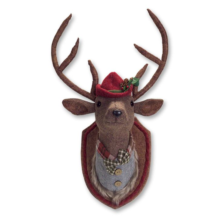 Melrose Mounted Deer Head with Hat and Bowtie - 64841