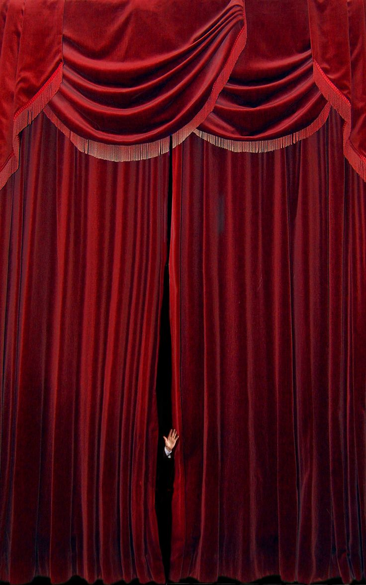 Red velvet curtain wallpaper - Velvet Curtain In Living Room