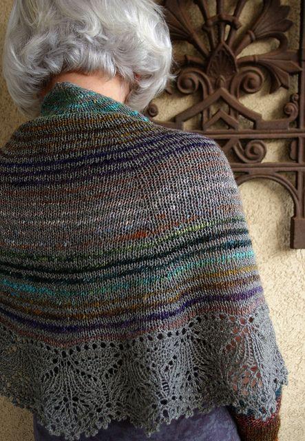 Cladonia Shawl. Noro and silky wool.