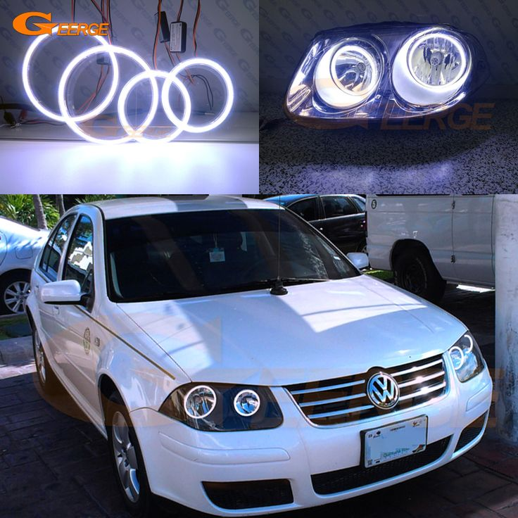For Volkswagen VW Jetta City MK4 2007 2008 2009 Excellent Ultra bright illumination COB led angel eyes kit halo rings