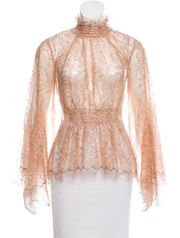 13bd7e02493 Lace Bell Sleeve Top