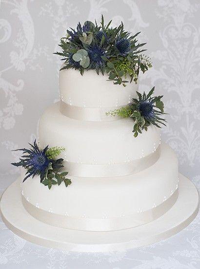 The Liggy's Cake Company - Scottish thistle wedding cake