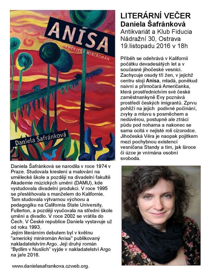 Budu mít autorské čtení 19.11.2015  v Ostravě