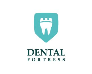 Dental Fortress Logo design - dental logo inspired by a fortress, design that portrays strong teeth  Price $250.00