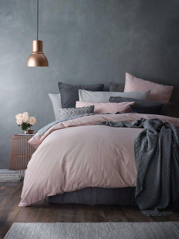 Déco chambre gris et rose pour un intérieur serein et doux