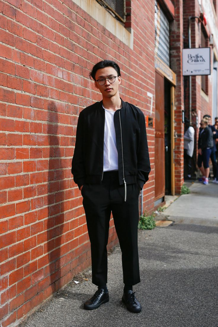 David. Easey St, Collingwood.        My style is defined as I wear lots of black and white. I like to wear     loose clothes that look and feel comfortable. I actually had this     jacket made for me by Blair Archibald [an up and coming Melbourne     designer]... who I met in a retail store