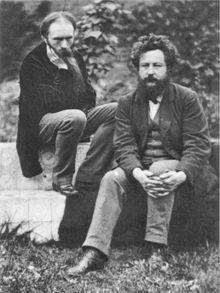 "Edward ""Ned"" Burne-Jones (1833-1898) and William Morris (1834-1896). photo: Frederick Hollyer, 1874"