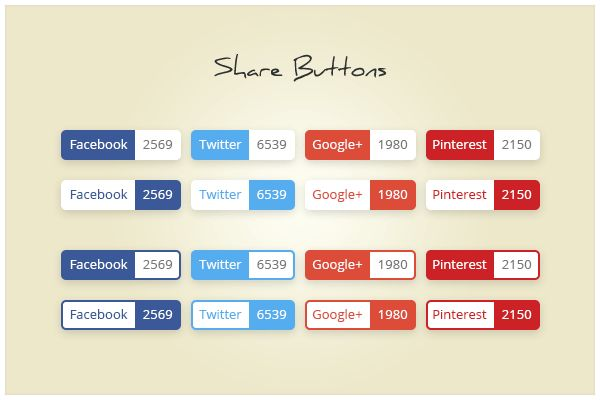 140 Share Buttons (freebie by pixelcave)