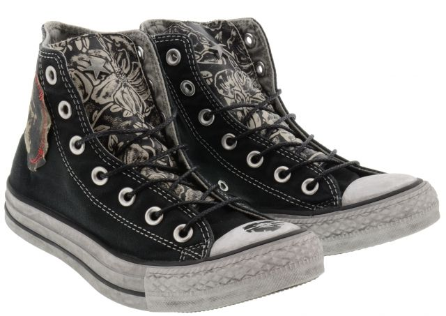 CONVERSE Limited Edition Hi All Star Black Fabric and Leather Tongue