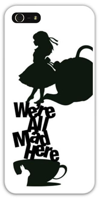 Alice in Wonderland We're All Mad Here Cell Phone Case Cover iPhone 4/4S 5/5S Samsung Galaxy S3 S4 Cheshire Cat Mad Hatter $24.99+FREE SHIPPING